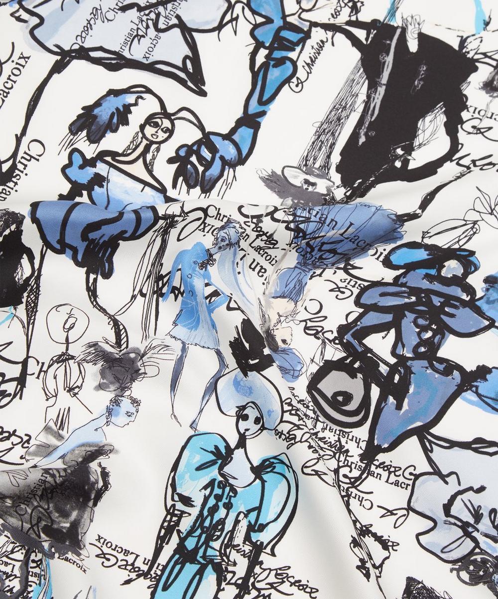 Croquis Foulard Silk Scarf