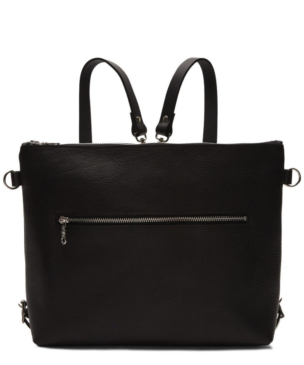 Leather Zip Top Rucksack