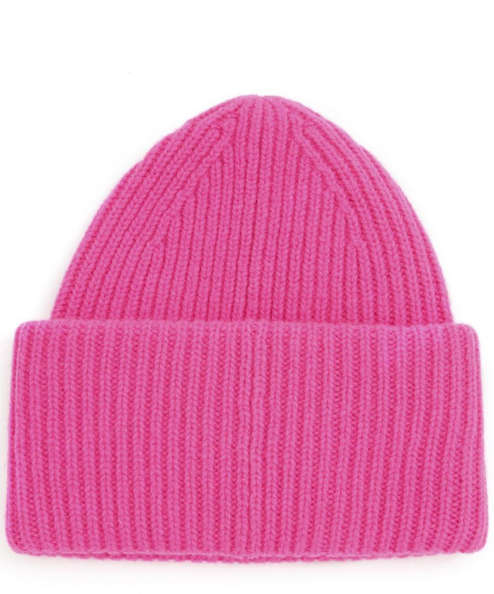 Pansy Face Wool Beanie Hat