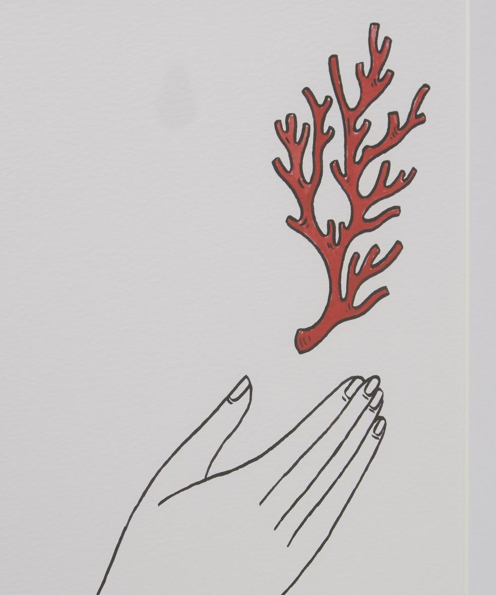 Fee Greening Coral Hand Framed Numbered Print