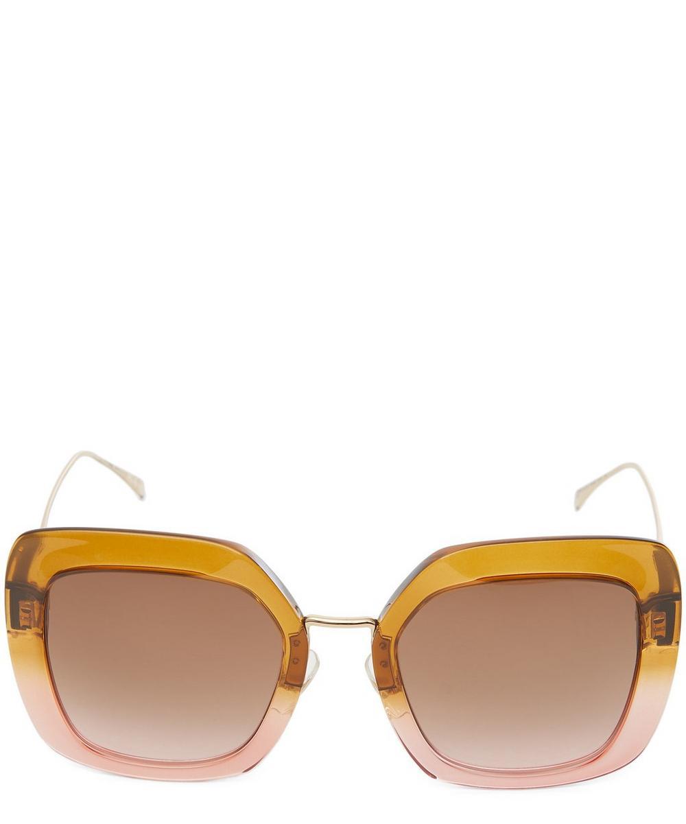 Tropical Shine Oversized Square Sunglasses
