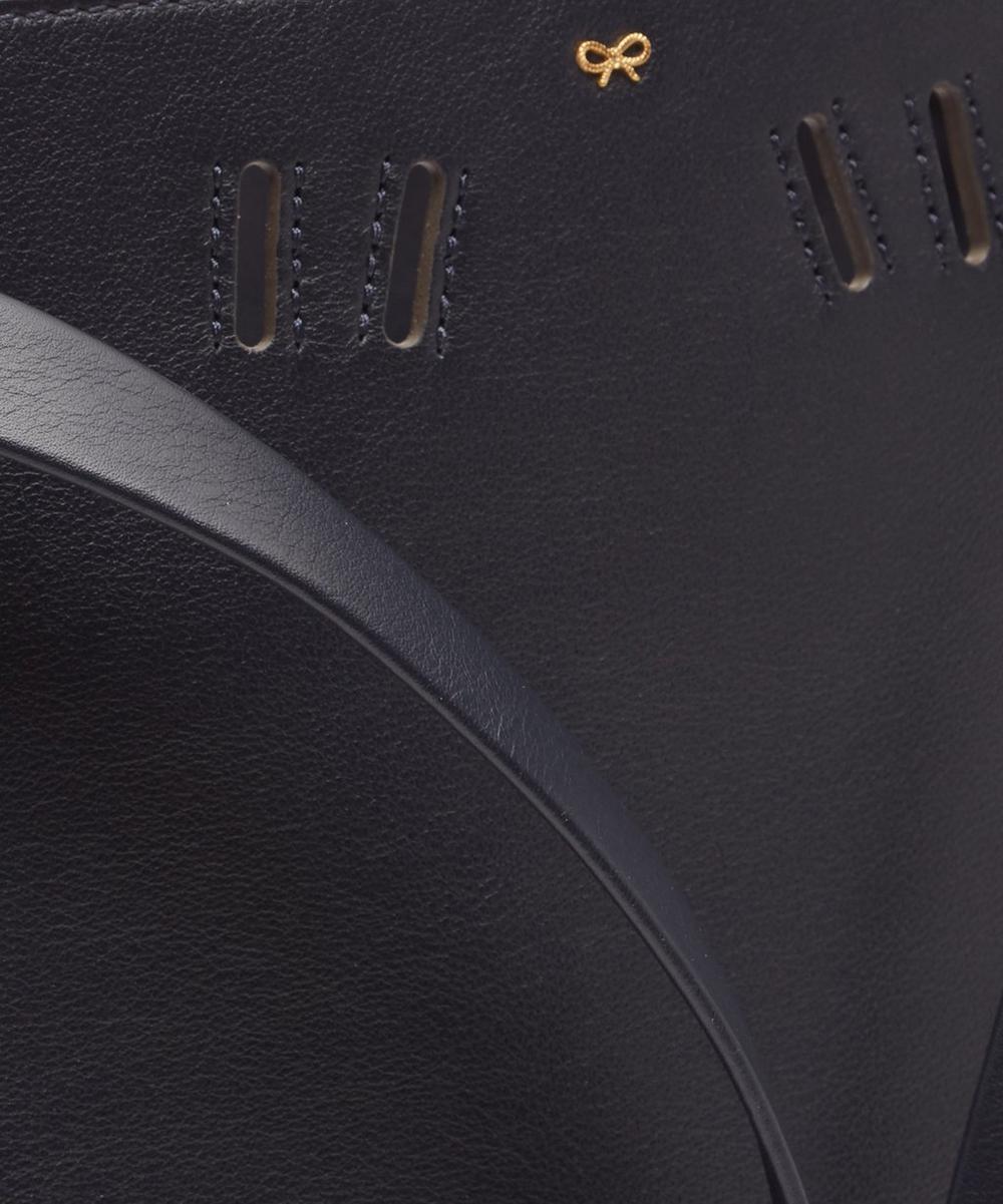 Soft Leather Shoelace Drawstring Bag