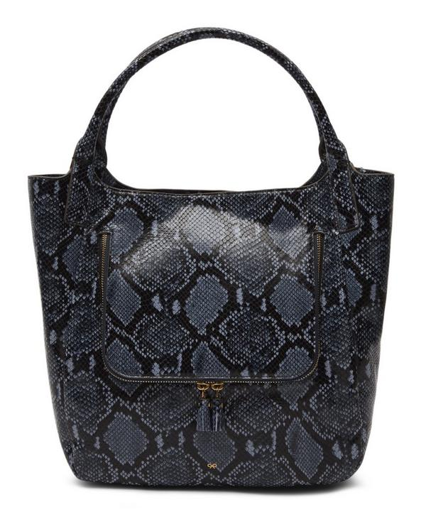 2997f79451 Vere Python Print-Leather Shopper ...