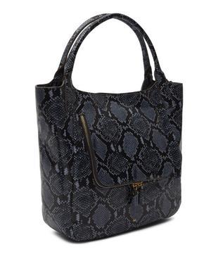 Vere Python Print-Leather Shopper