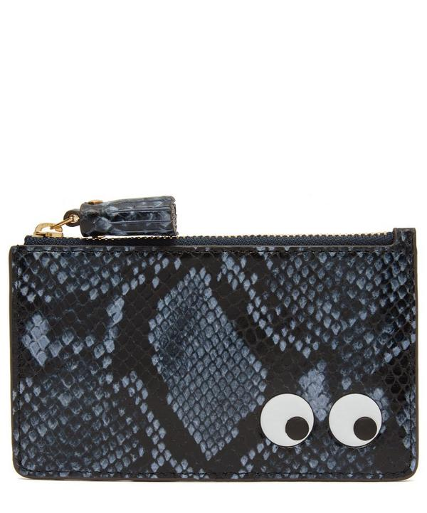 Python Print Eyes Zipped Card Case