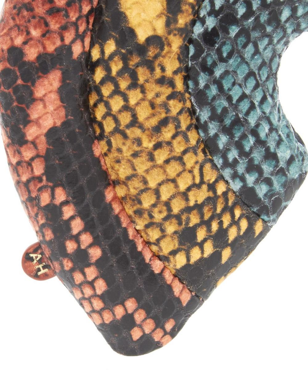 Python Print Leather Rainbow Charm