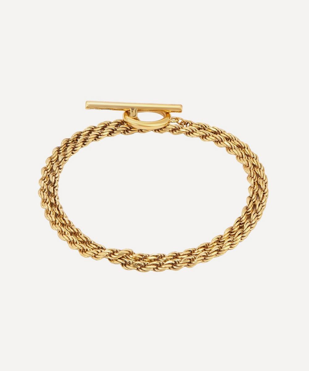 Gold Vermeil Polished Rope Bracelet