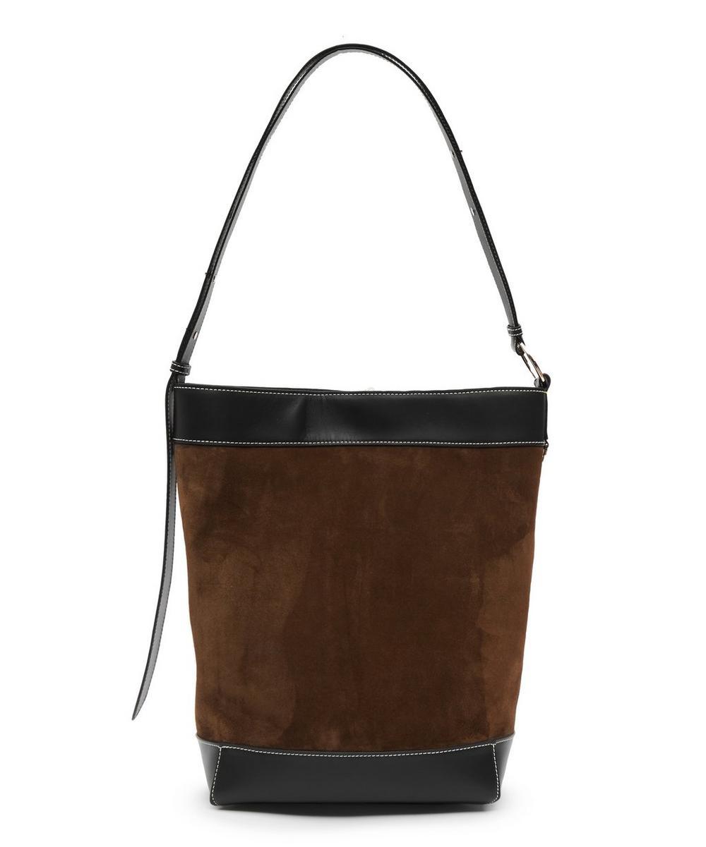 Lock Suede Tote Bag