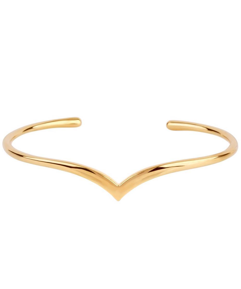 Gold Vermeil Almaz Wishbone Cuff Bracelet