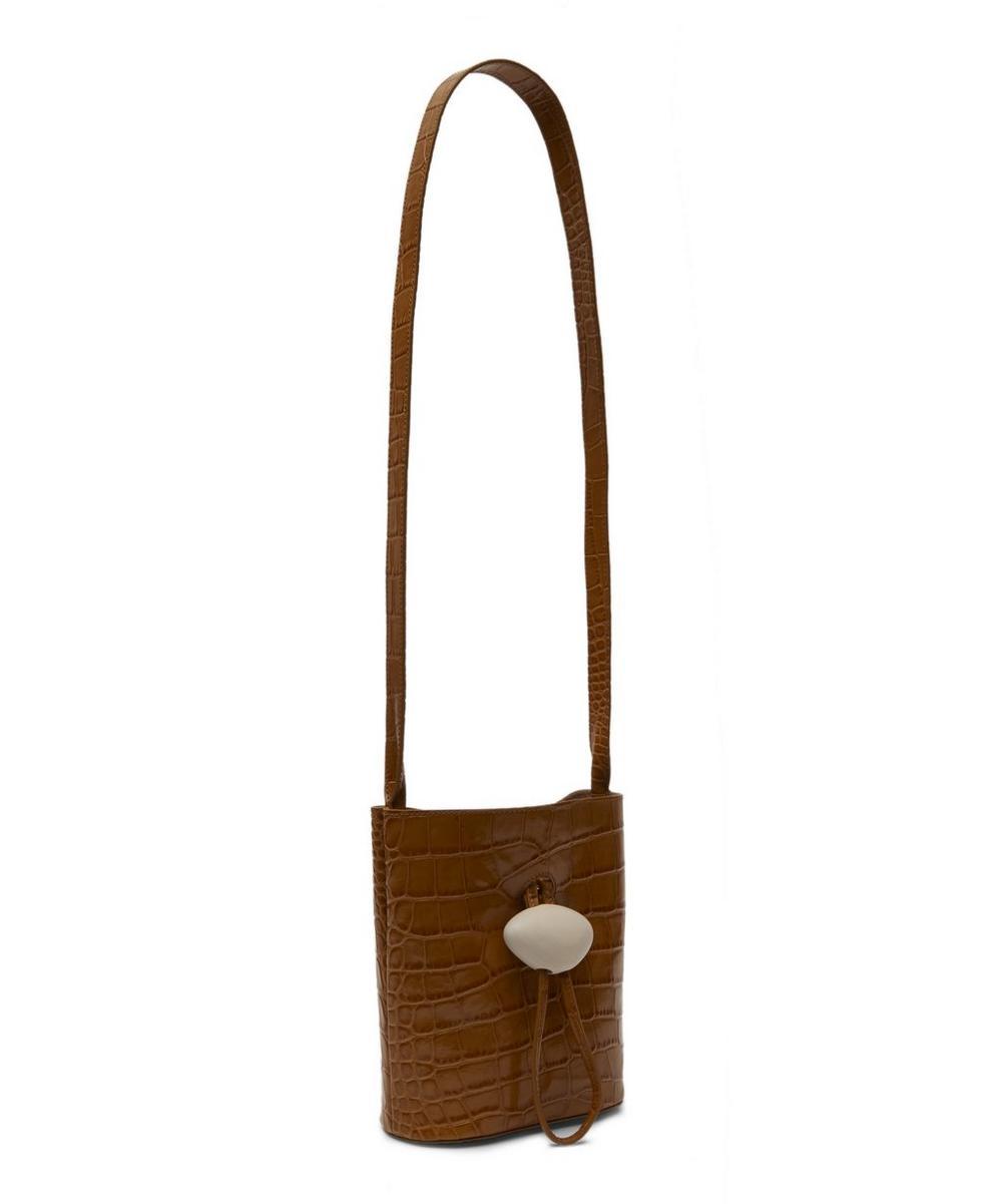 Camila Croc-Embossed Cross-Body Bag