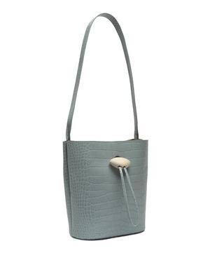 Naomi Croc Leather Shoulder Bag