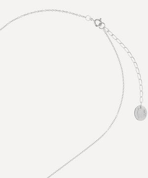 Silver Floral Letter A Alphabet Necklace