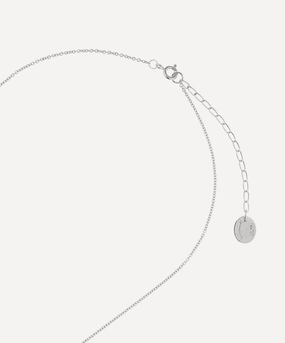 Silver Floral Letter R Alphabet Necklace