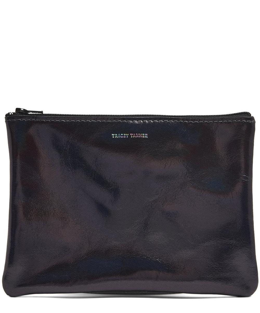 Medium Hologram Leather Pouch