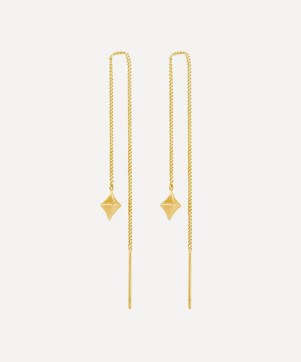 Gold Vermeil Almaz Mini Chain Drop Earrings