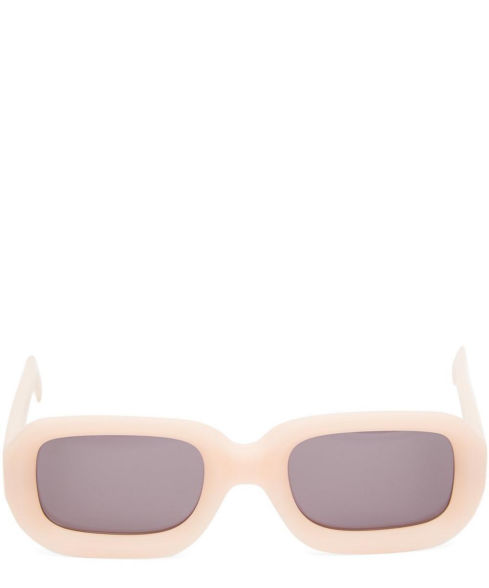Vinyl Narrow Rectangular Sunglasses