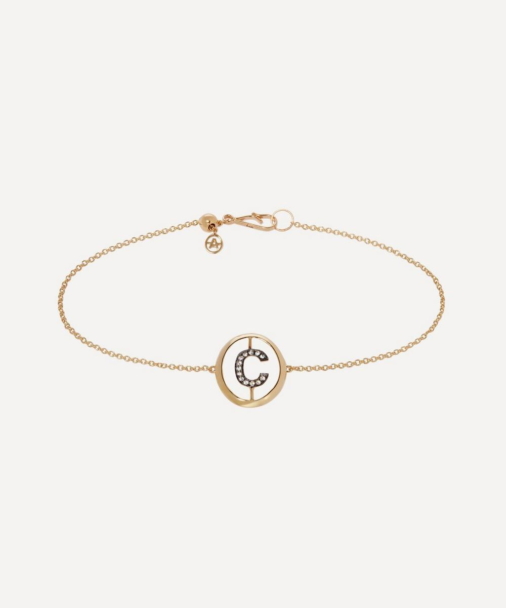 18Ct Gold C Initial Bracelet