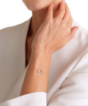 18ct Gold J Initial Bracelet