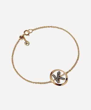 18ct Gold K Initial Bracelet