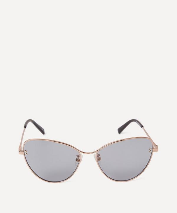 Rose Gold-Tone Metal Cat-Eye Sunglasses