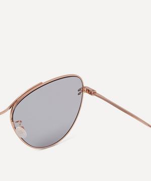 Rose Gold-Tone Metal Cat-Eye Sunglasses