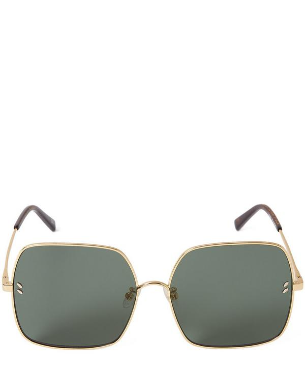 651daf49c5693f Oversized Square Metal Sunglasses ...