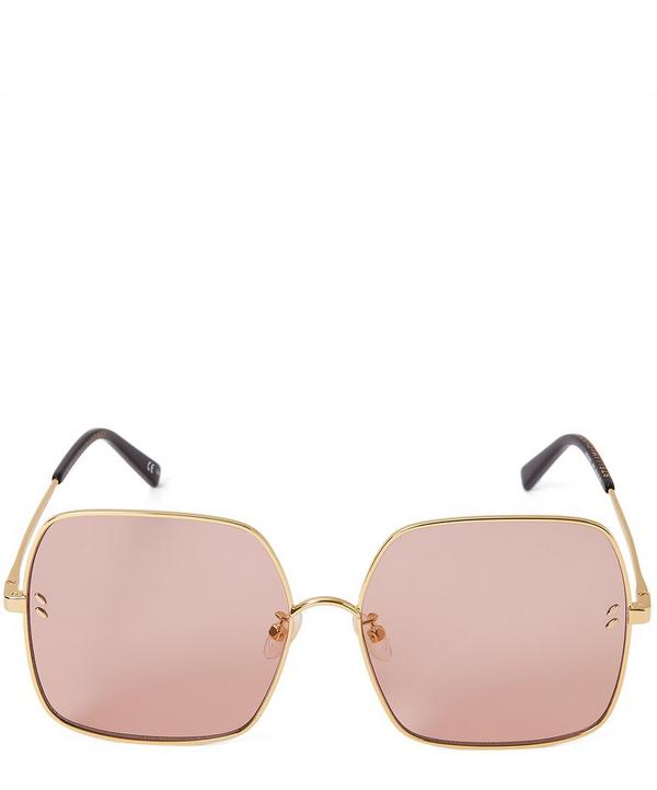 Oversized Square Metal Sunglasses