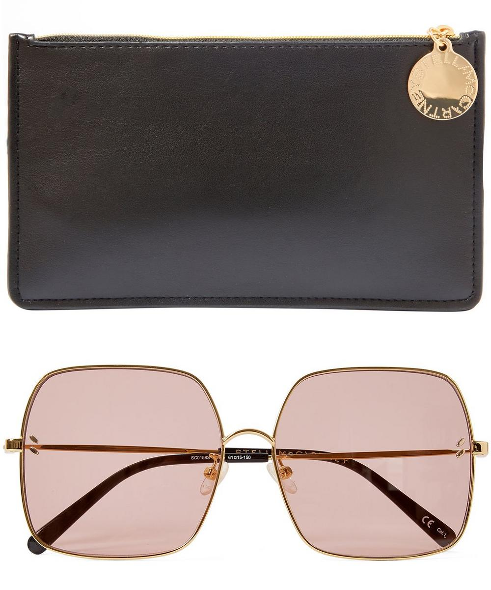 fd040c4bdd Oversized Square Metal Sunglasses