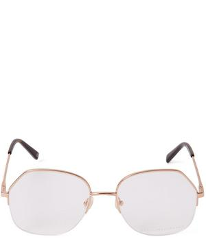 Rose Gold-Tone Metal Hexagonal Optical Glasses