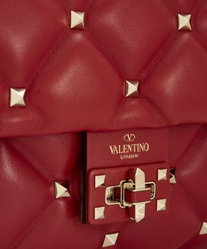Medium Candystud Top Handle Quilted Leather Bag