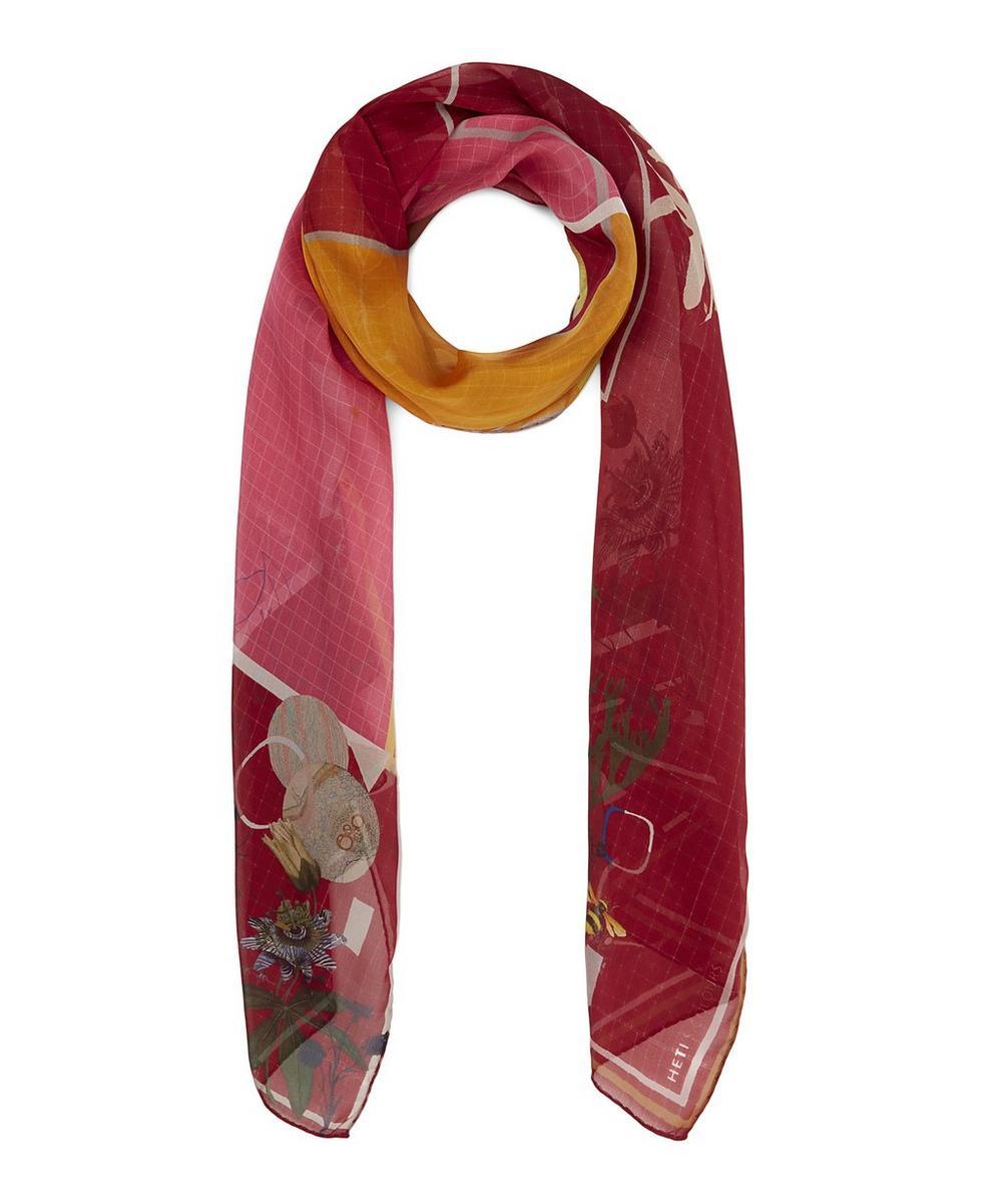 HETI'S COLOURS Sissy Silk Scarf in Red