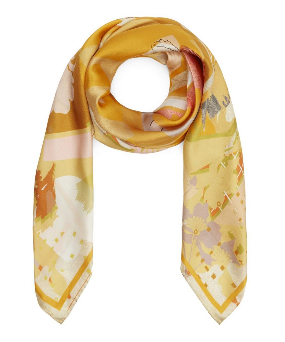 HETI'S COLOURS Kit Silk Scarf in Yellow