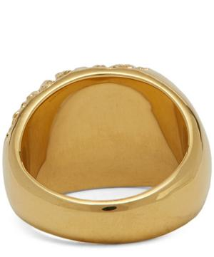 Gold-Plated Rock Signet Ring