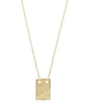 Gold-Plated Rock Tag Necklace