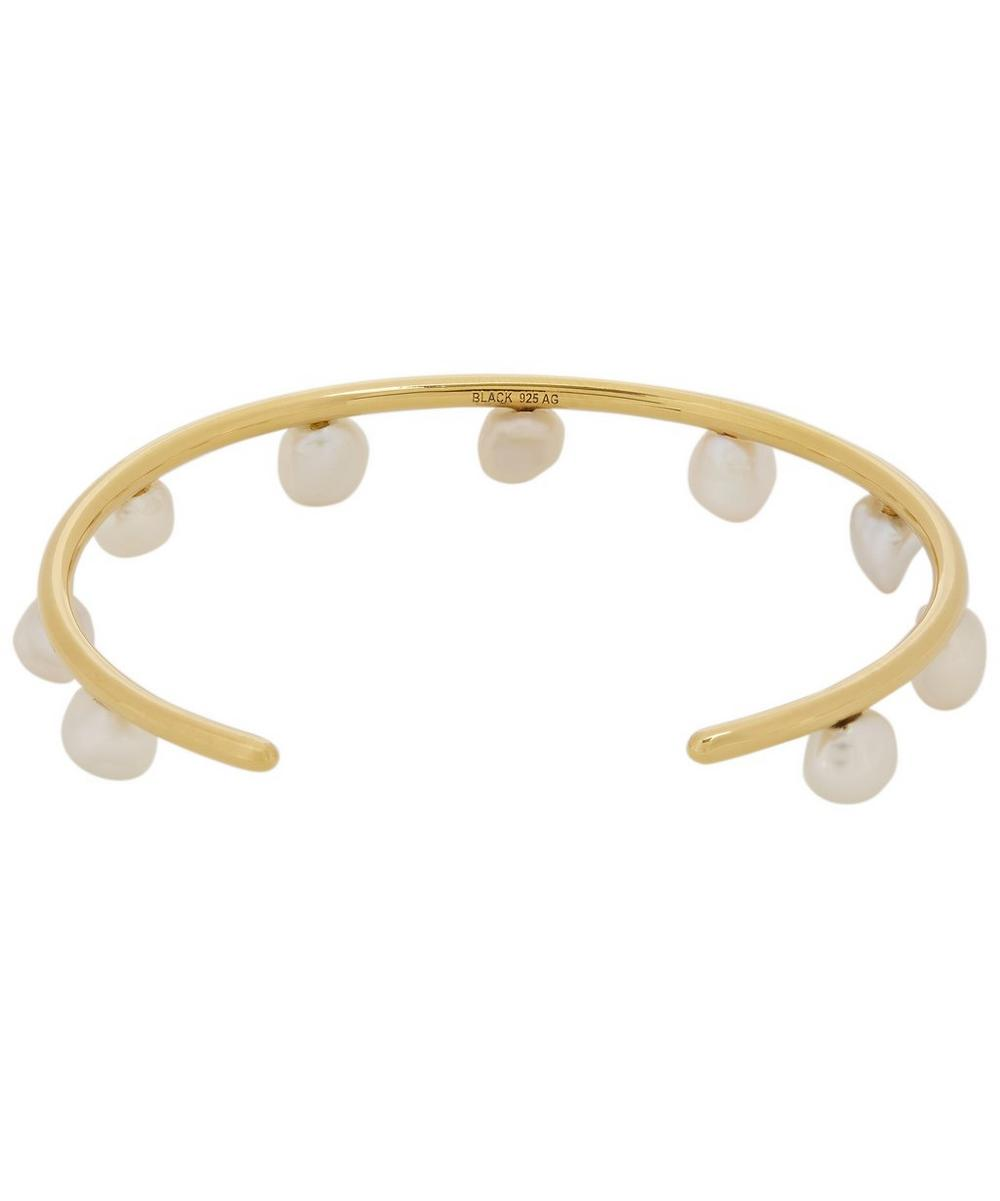 Gold-Plated April Snow Baroque Pearl Bangle