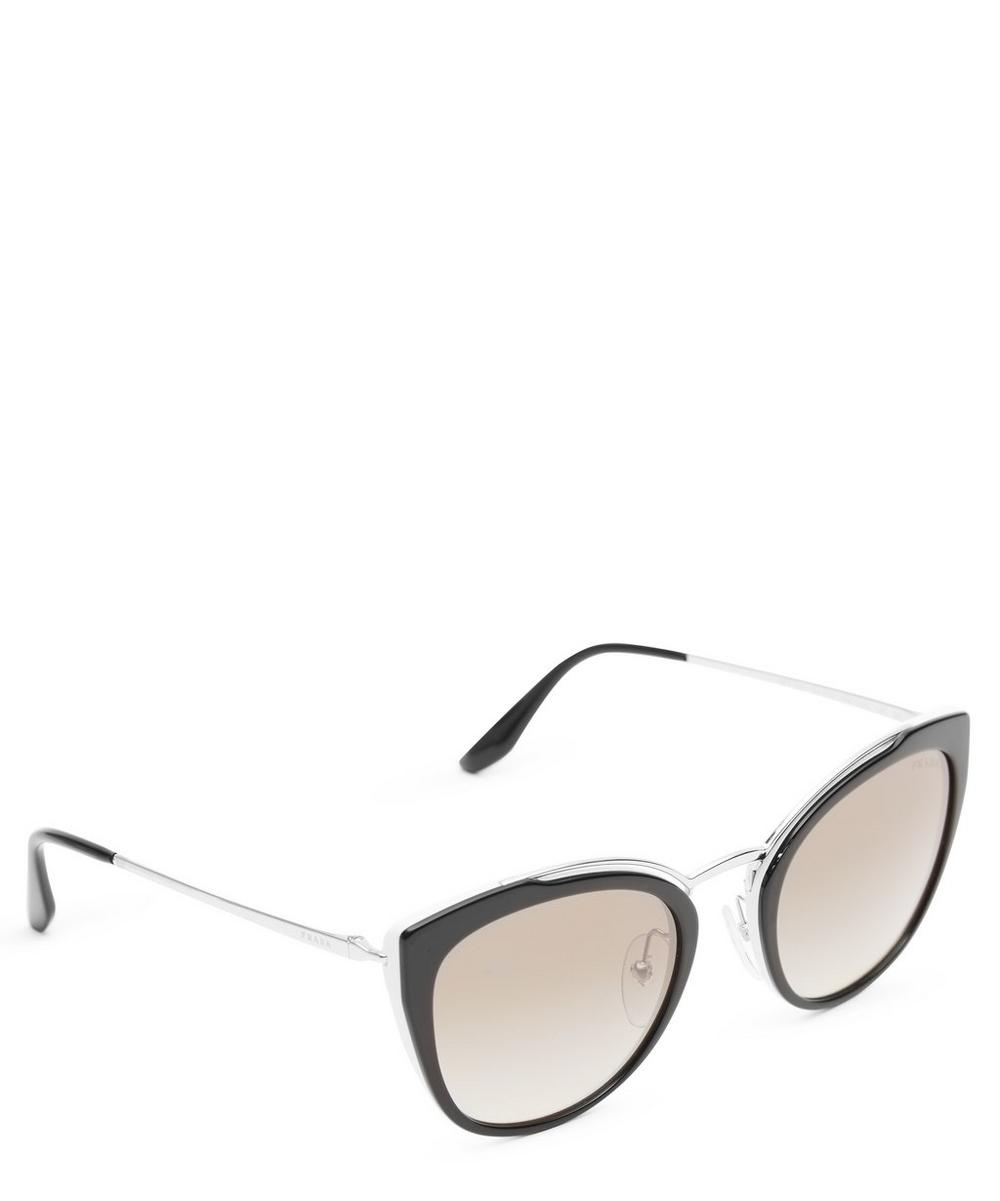 Rounded Cat-Eye Sunglasses