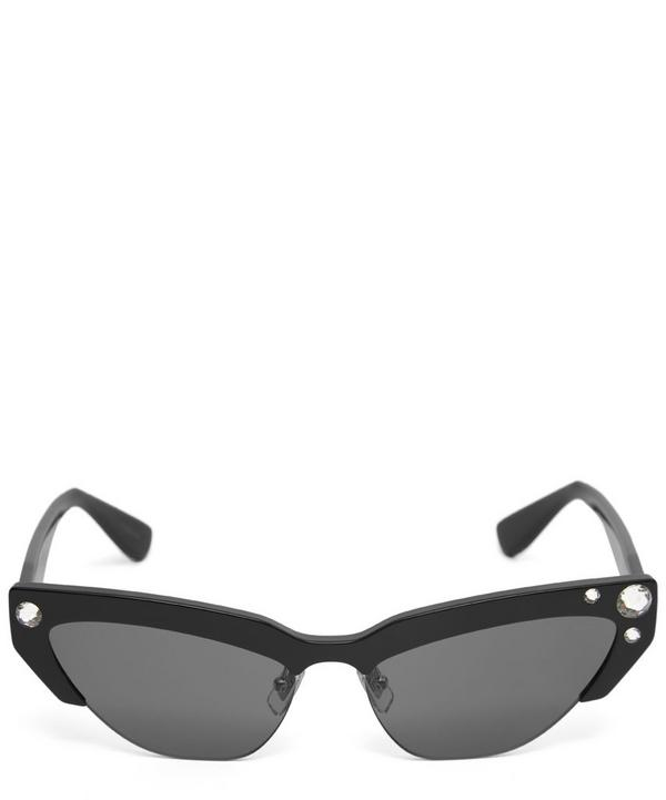 ce2c25465b34 Half-Frame Crystal Cat-Eye Sunglasses Half-Frame Crystal Cat-Eye Sunglasses  · Quick View. Miu Miu
