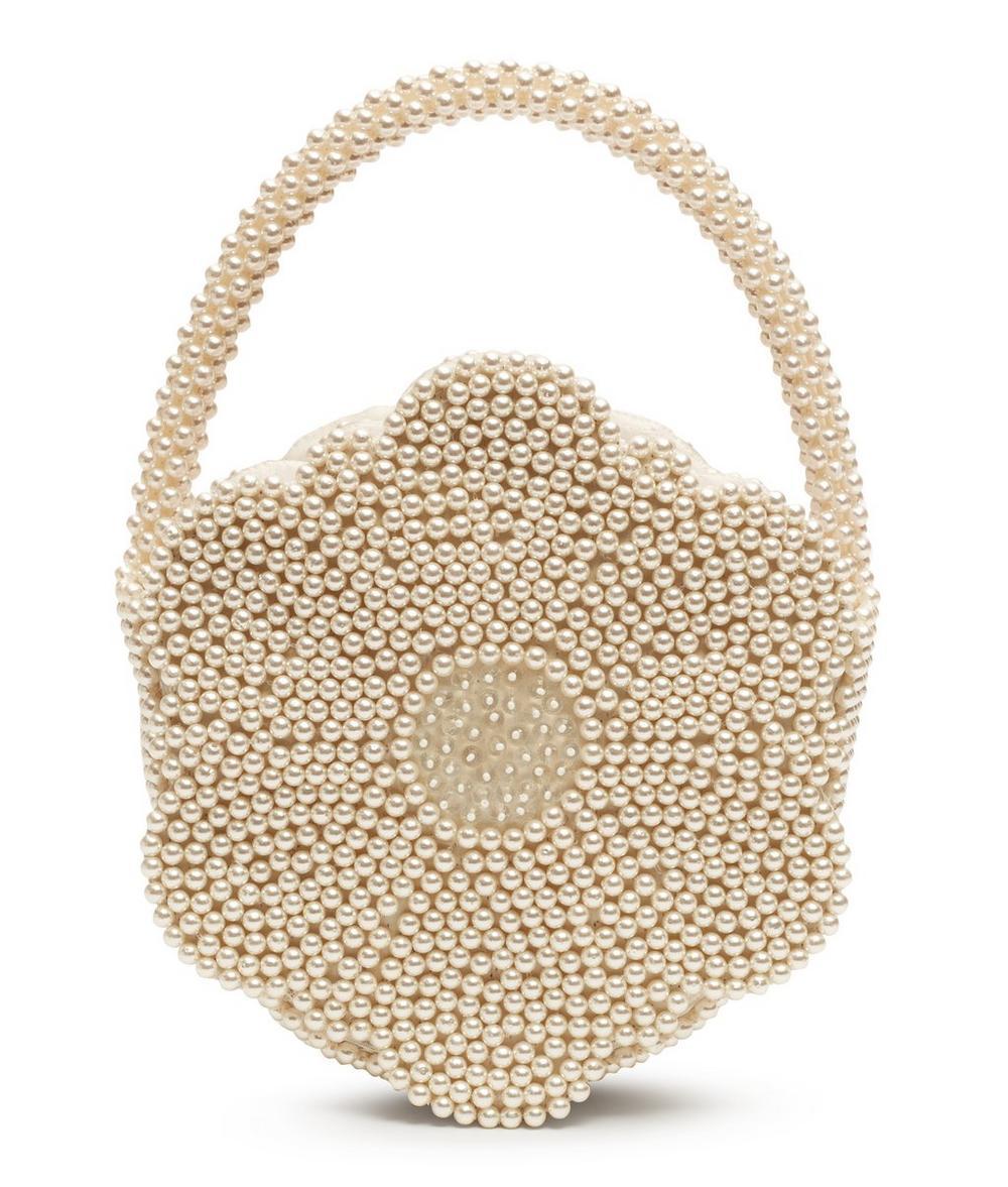 Buttercup Faux Pearl Flower Bag