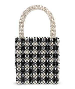 Willow Gingham Beaded Bag