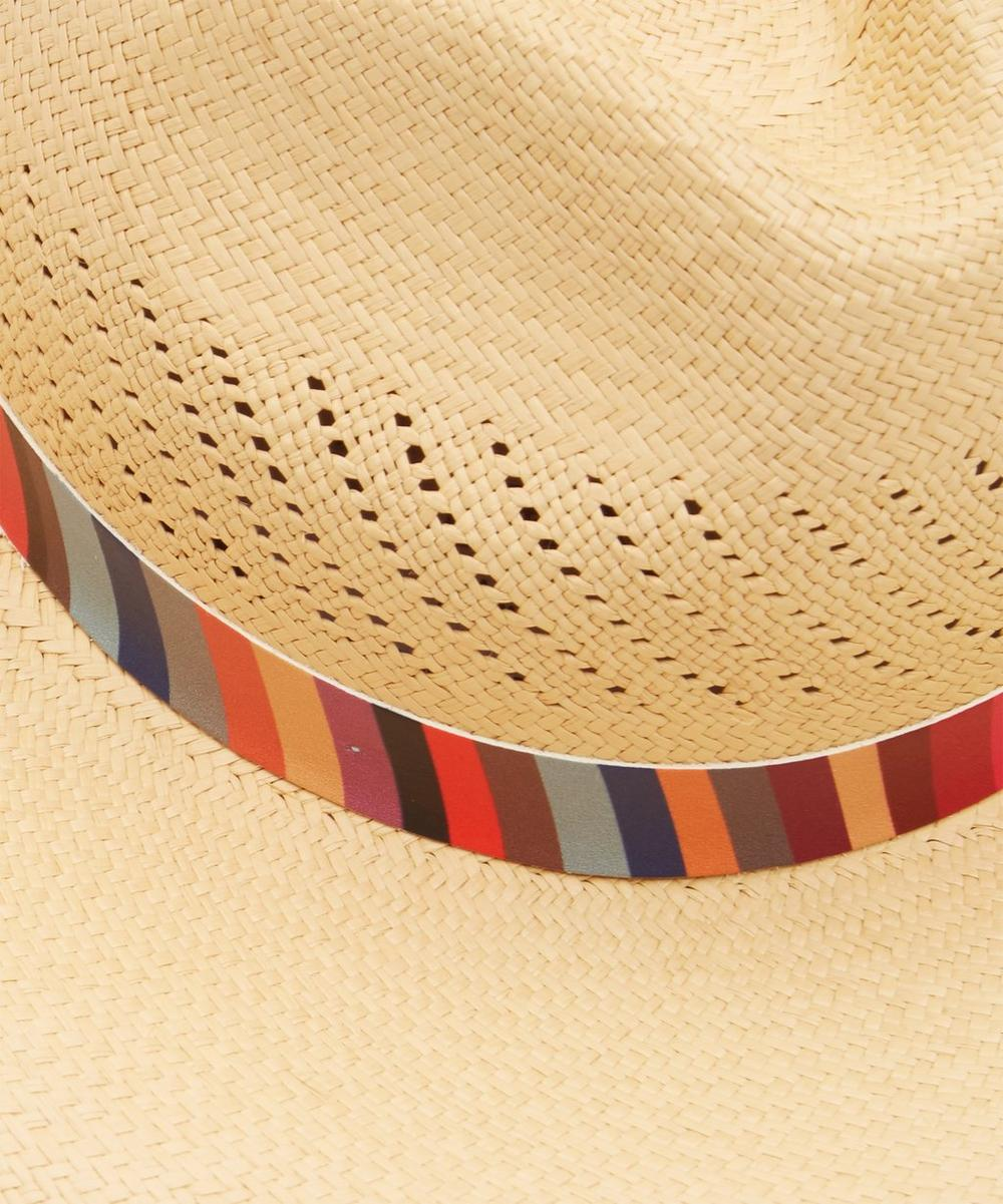 ed25f2e0 Swirl Stripe Panama Straw Hat | Liberty London
