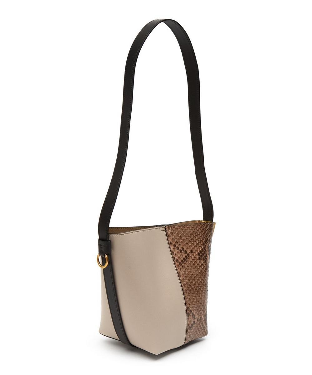 Snake-Embossed GV Mini Bucket Bag