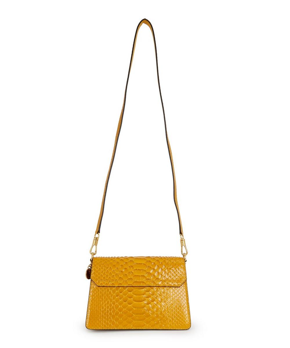 Small GV3 Python Shoulder Bag