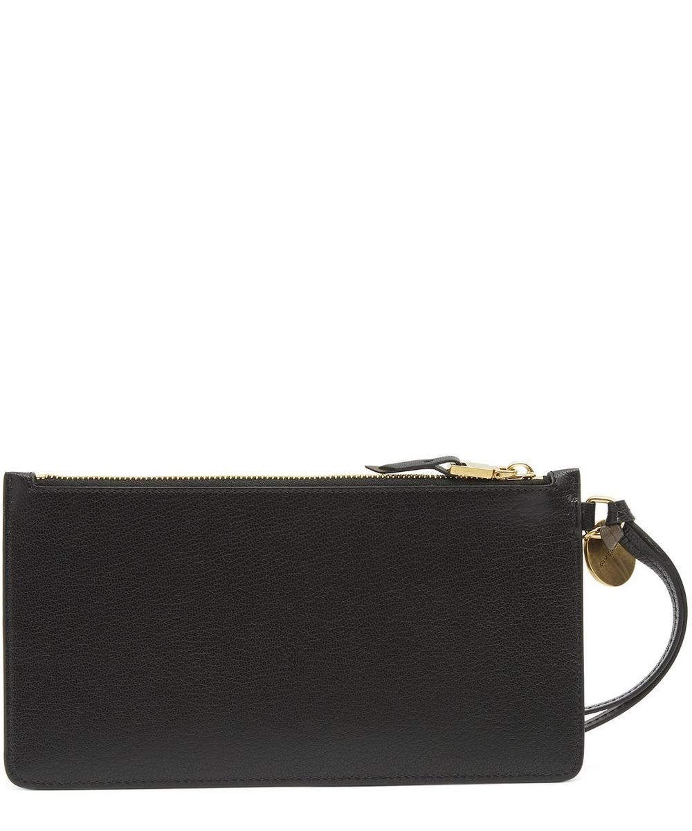 Leather Zip Card Case Wristlet
