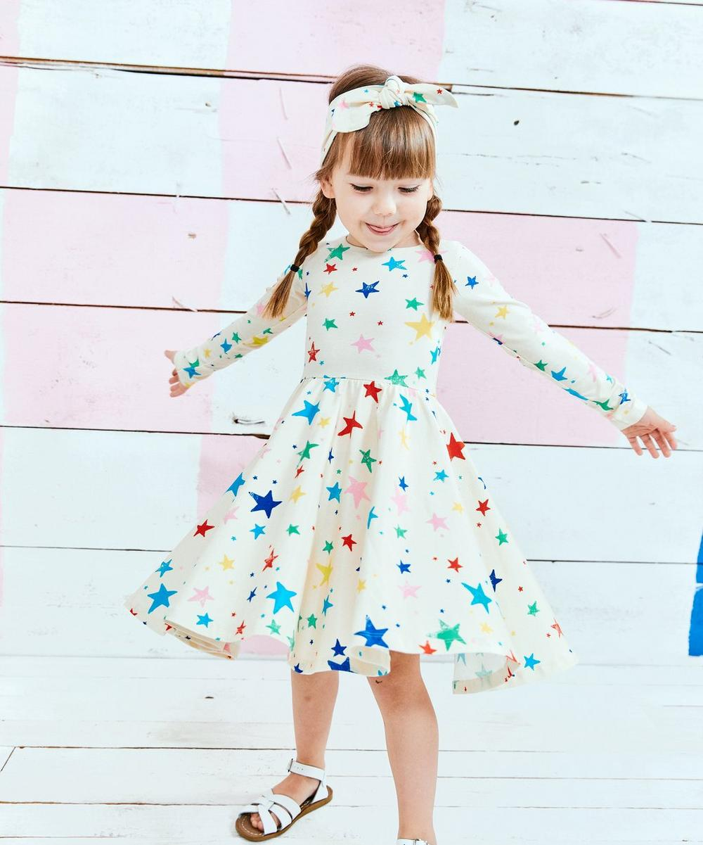 Star Long Sleeve Dress 2-8 Years