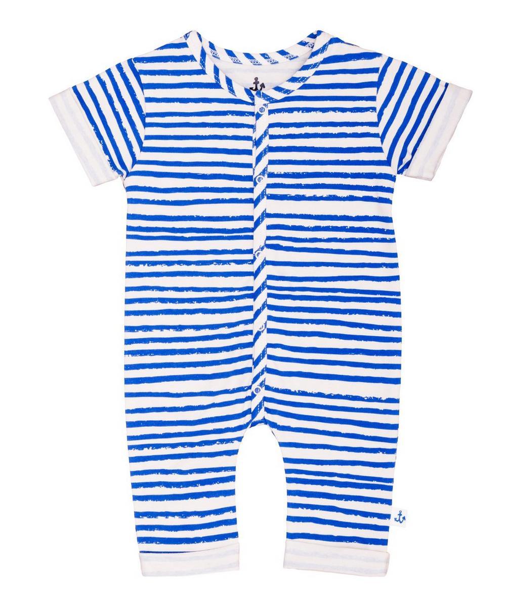 Stripe Short Sleeve Overalls 0-24 Months