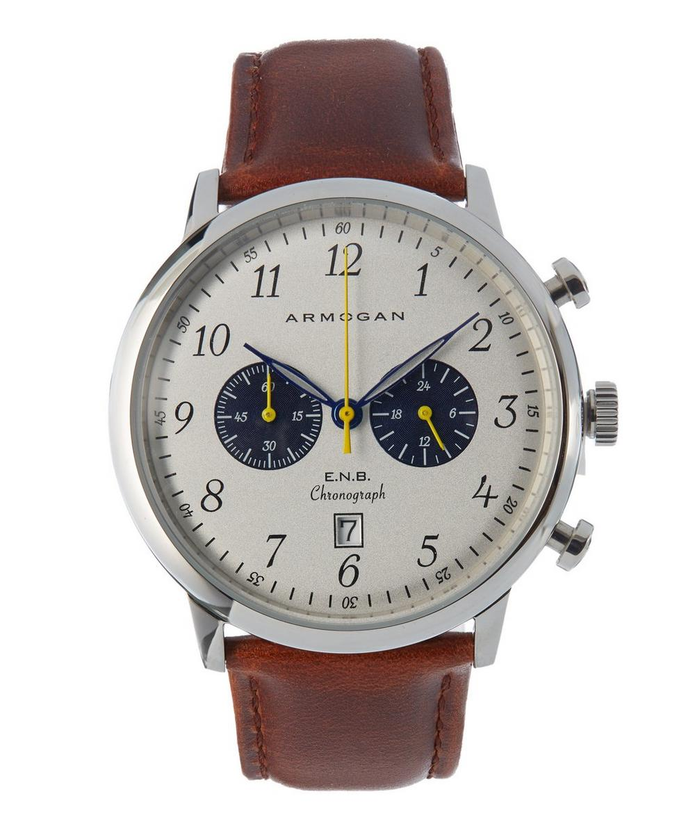 ARMOGAN S83 Brown Leather Strap Watch