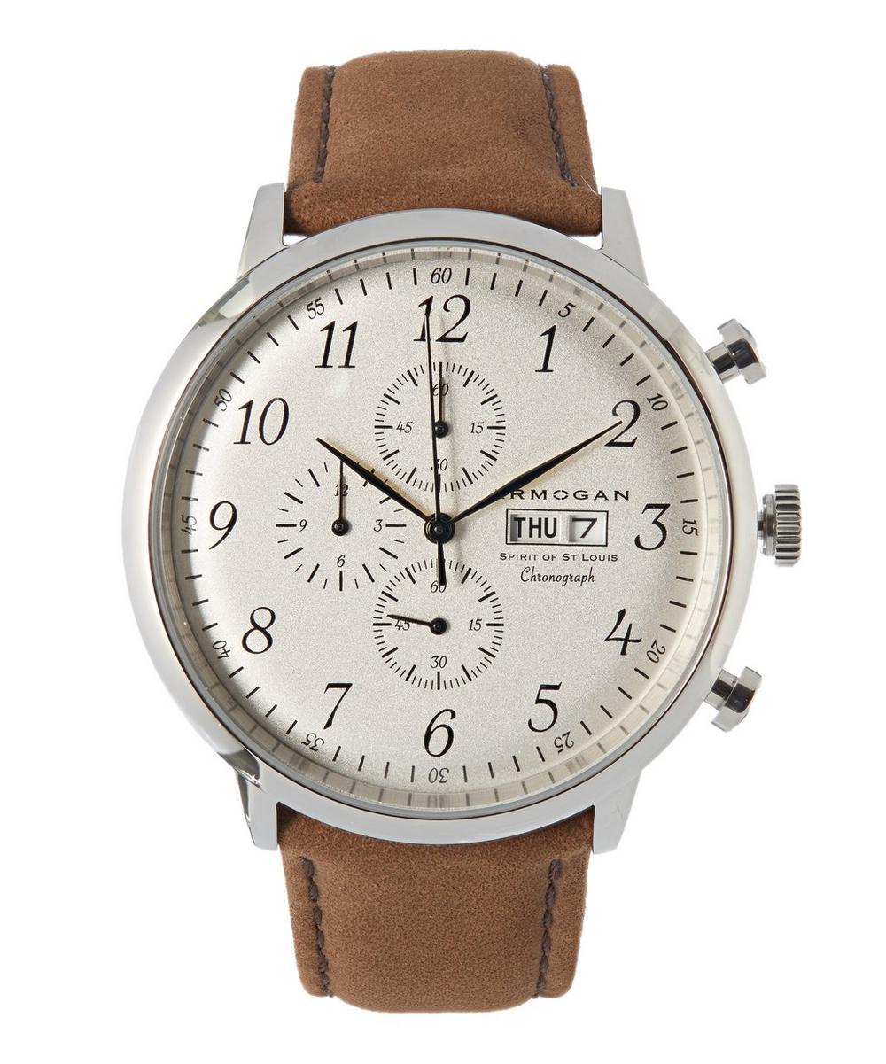 ARMOGAN Spirit Of St. Louis White Chocolate Suede Watch