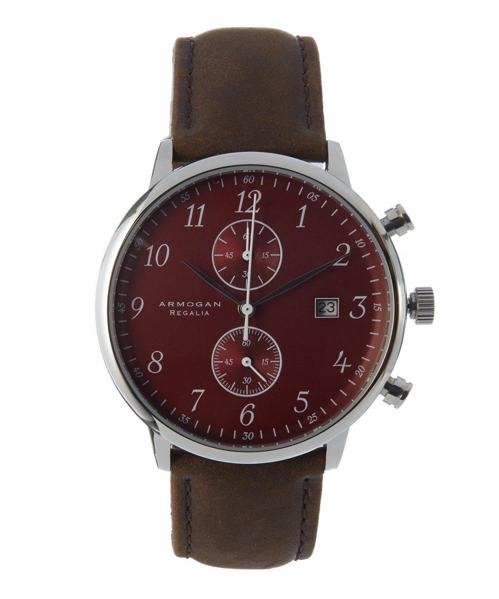 Regalia Ruby Suede Leather Strap Watch