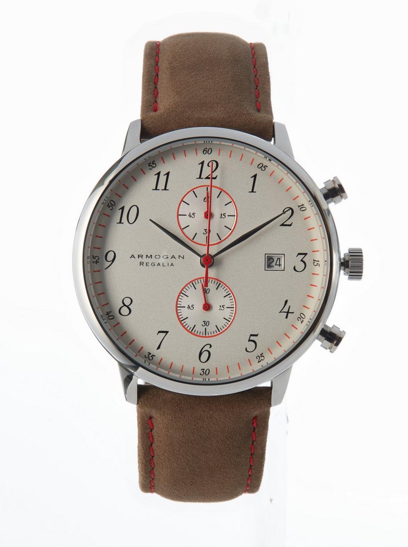 ARMOGAN Regalia S87 Suede Leather Watch in White