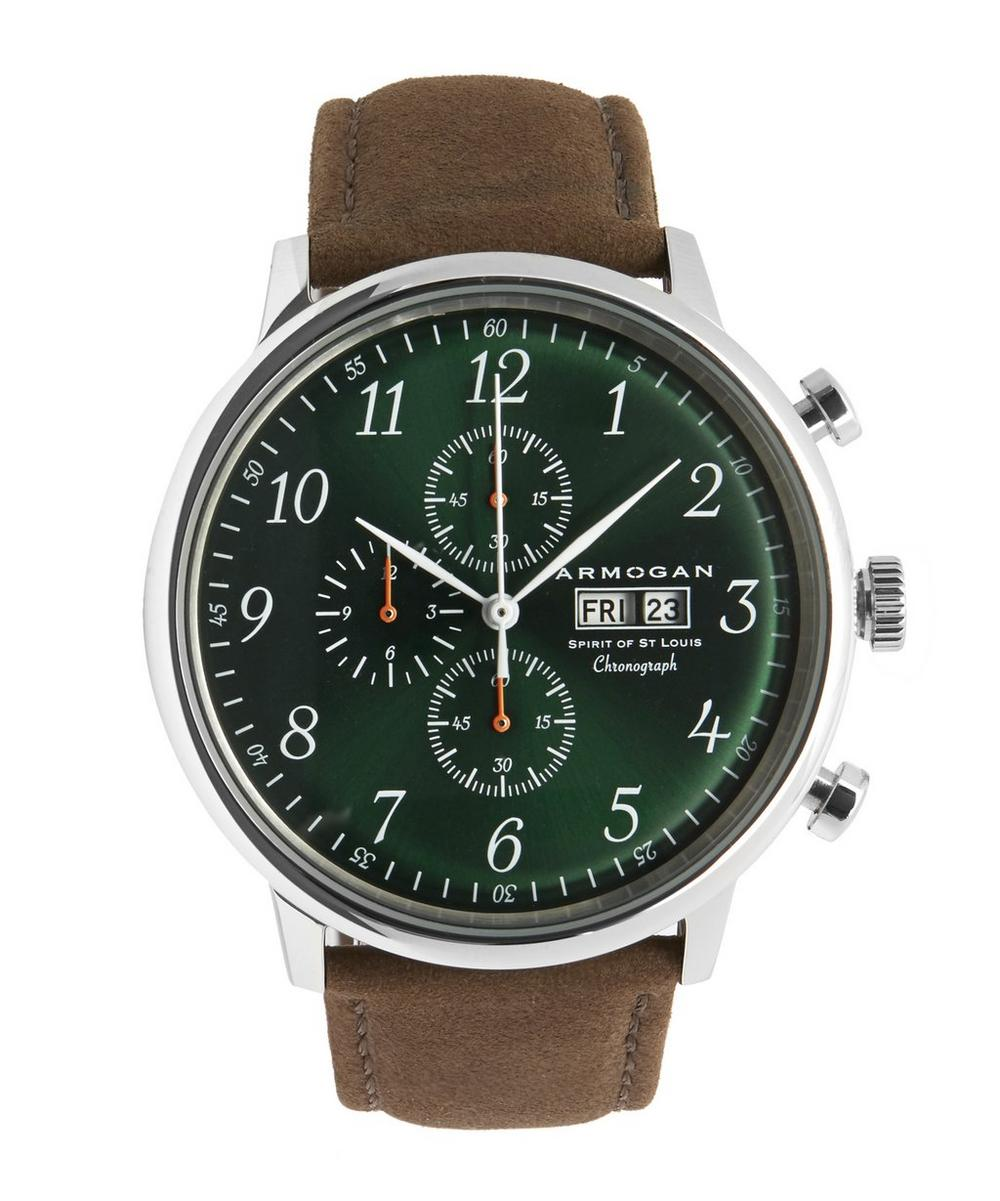 ARMOGAN Spirit Of Saint Louis Watch in Green